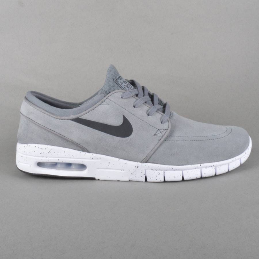 nike sb stefan janoski max l sneaker dark grey white nike. Black Bedroom Furniture Sets. Home Design Ideas