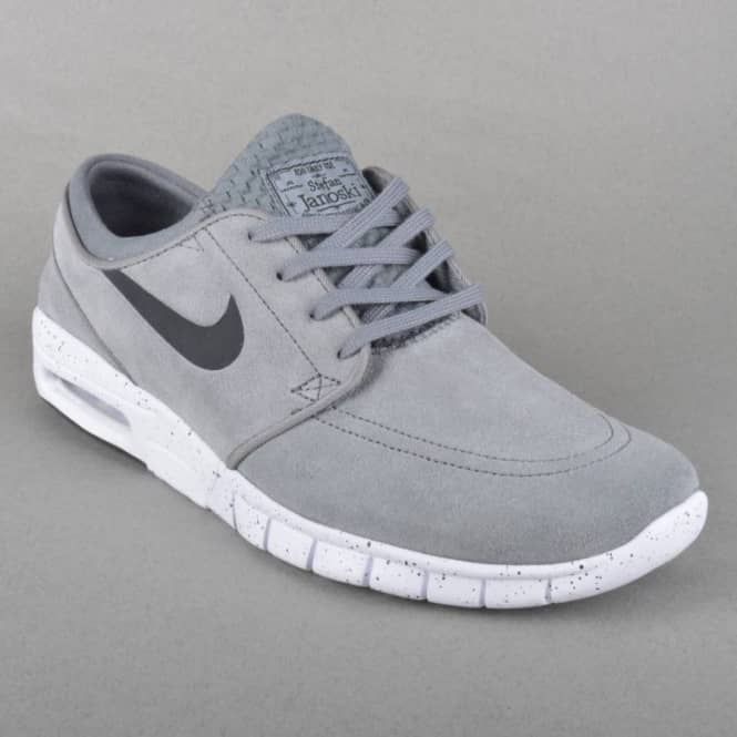 ... buy stefan janoski max l skate shoes cool grey black white f695a 9e021 cc8d06bdc9296