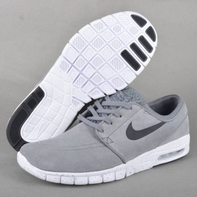 huge selection of factory authentic good out x Nike SB Stefan Janoski Max L Skate Shoes - Cool Grey/Black-White