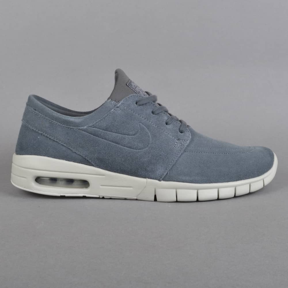 604689dc8a Nike SB Stefan Janoski Max L Skate Shoes - Dark Grey/Dark Grey-Light ...