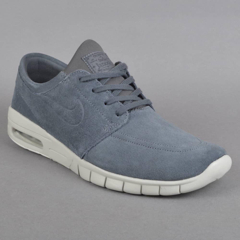 Stefan Janoski Max L Skate Shoes - Dark Grey/Dark Grey-Light Bone