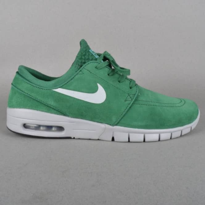Stefan Janoski Max L Skate Shoes - Gorge Green Metallic Silver-Clearwater ba387374e