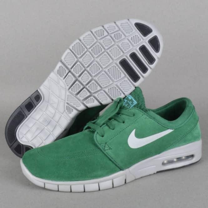 362664f8f08d ... discount code for stefan janoski max l skate shoes gorge green metallic  silver clearwater 1da2b e2cb7