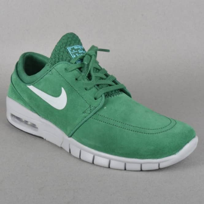 e5593a0758d6 Stefan Janoski Max L Skate Shoes - Gorge Green Metallic Silver-Clearwater