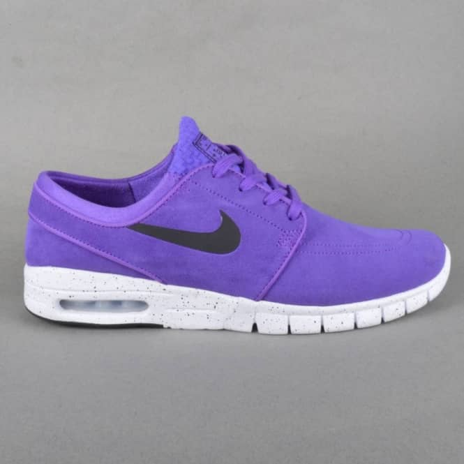 Nike SB Stefan Janoski Max L Skate Shoes - Hyper Grape/Black-White