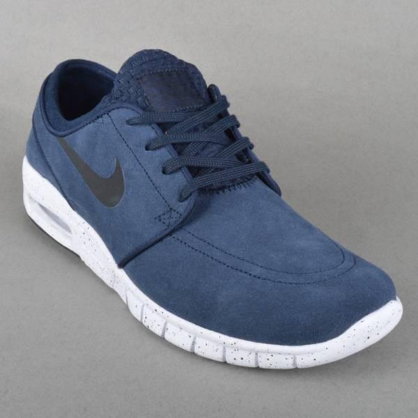 738fc25eb0 Nike SB Stefan Janoski Max L Skate Shoes - Obsidian Black-White ...