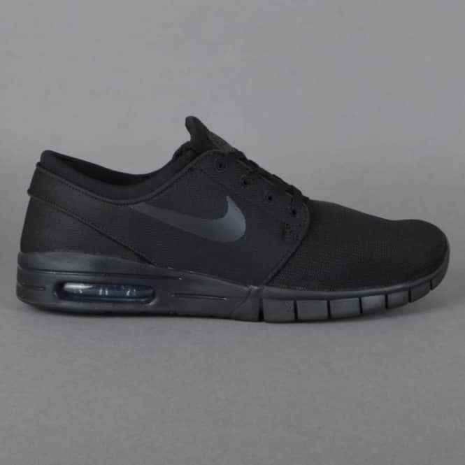 Nike SB Stefan Janoski Max Skate Shoes - Black/Black-Anthracite-Black