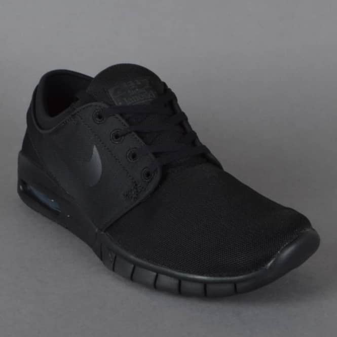 Nike SB Stefan Janoski Max Skate Shoes - Black Black-Anthracite ... a2ed252d1
