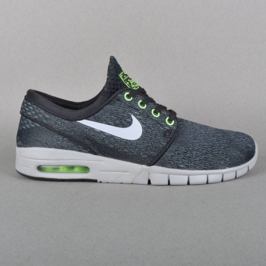 nike sb stefan janoski max skate shoes black wolf grey. Black Bedroom Furniture Sets. Home Design Ideas