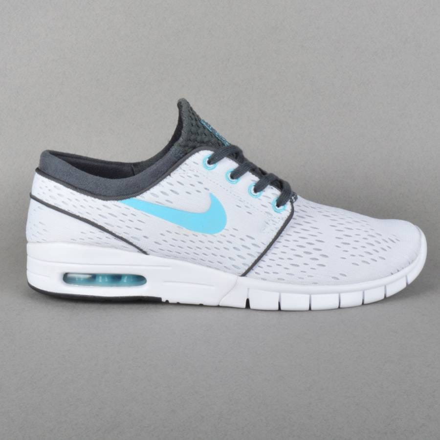 nike sb stefan janoski max skate shoes white clearwater anthracite black nike sb from native. Black Bedroom Furniture Sets. Home Design Ideas