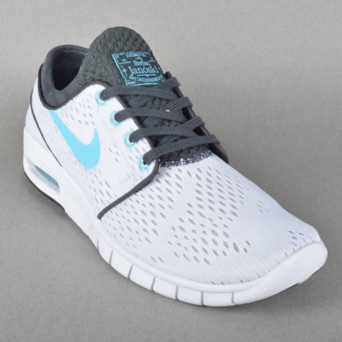 ac3e93b390 Nike SB Stefan Janoski Max Skate Shoes - White/Clearwater-Anthracite ...