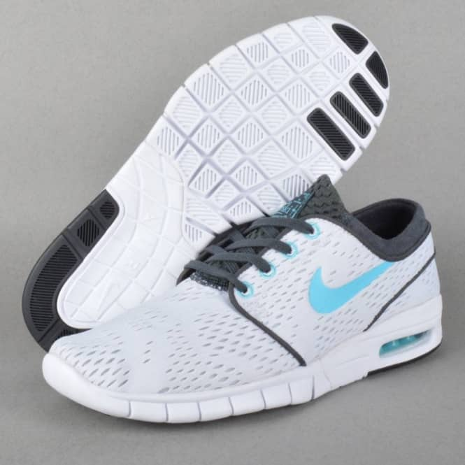 Nike SB Stefan Janoski Max Skate Shoes - White Clearwater-Anthracite ... 702a0b9c6