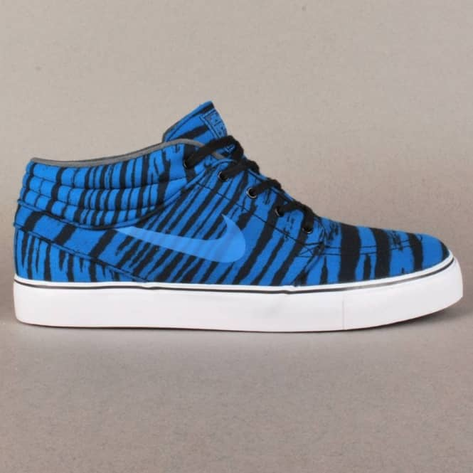 brand new cffb3 47fea Stefan Janoski Mid Premium Skate Shoes - Military Blue Black White-White  Sale · Nike SB ...