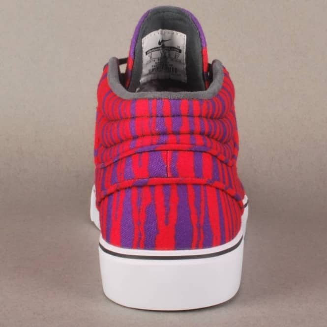 separation shoes 55385 09f1c Stefan Janoski Mid Premium Tiger Stripes Skate Shoes - Laser Crimson Black-Purple  Venom
