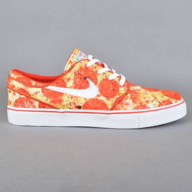 Nike SB Stefan Janoski QS Skate Mental Pizza Skate Shoes - University Red/White-Multi Color