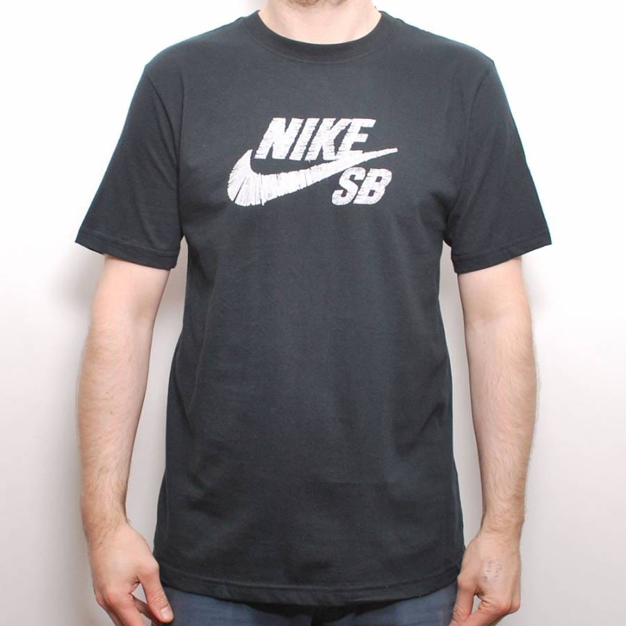 Nike sb nike sb stitches icon fill skate t shirt black for Nike sb galaxy shirt
