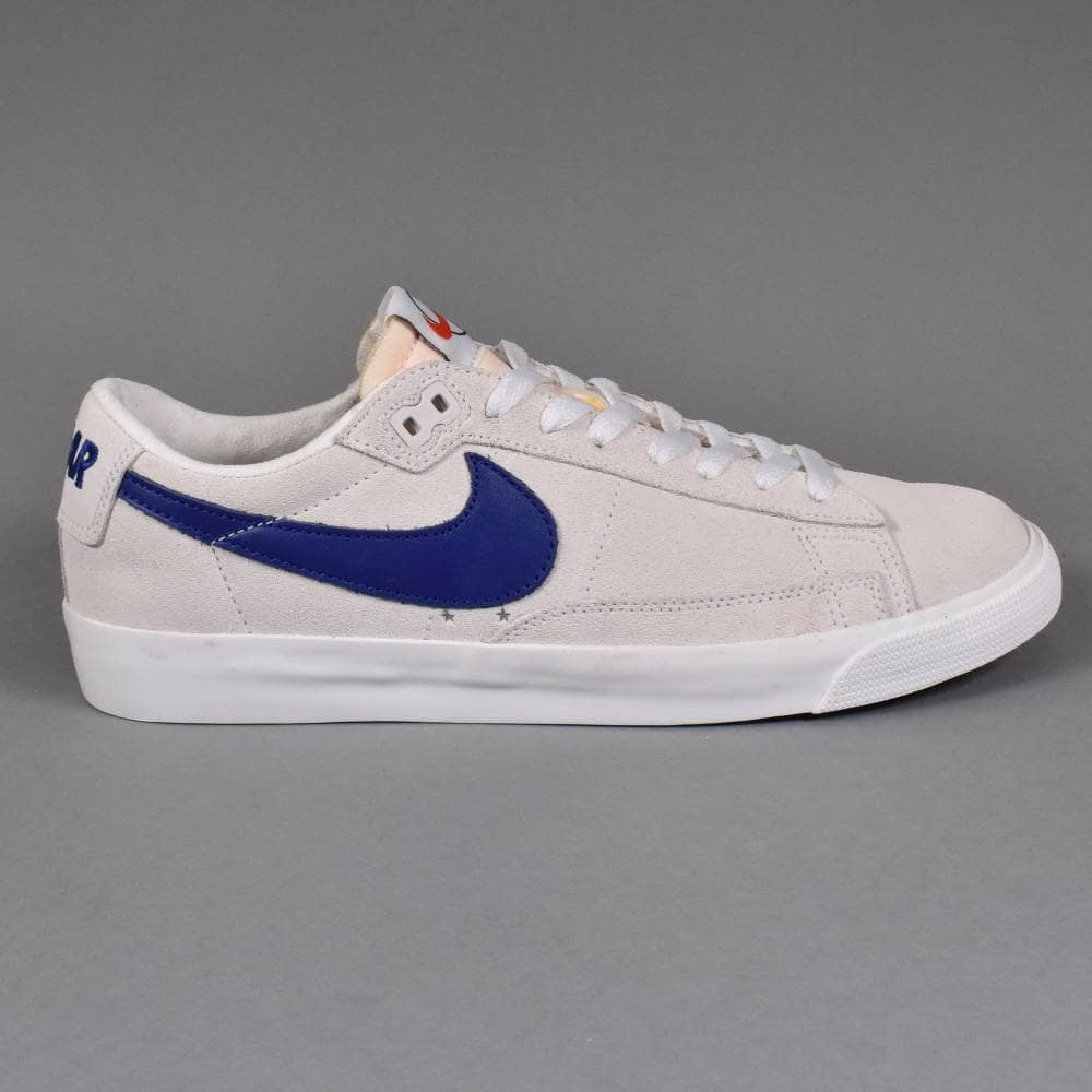 buy good reasonable price special sales x Polar Zoom Blazer Low GT QS Skate Shoes - Summit White/Deep Royal Blue