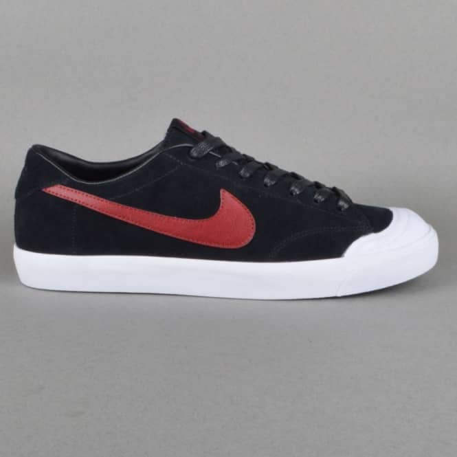 ... zoom all court ck skate shoes black team red white