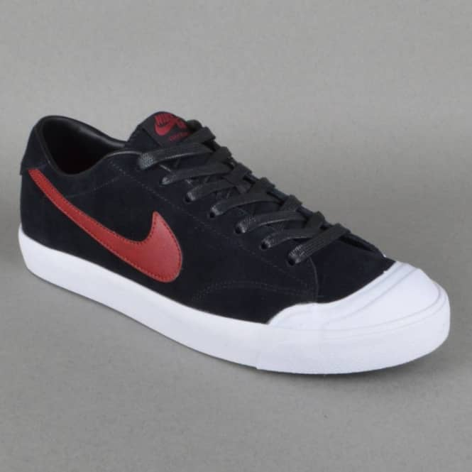 1e291923b8d1 Nike SB Zoom All Court CK Skate Shoes - Black Team Red-White - SKATE ...