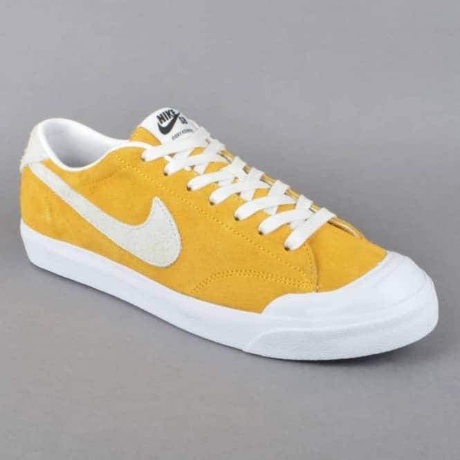 c76dd770e78d Nike SB Zoom All Court CK Skate Shoes - University Gold Summit White ...