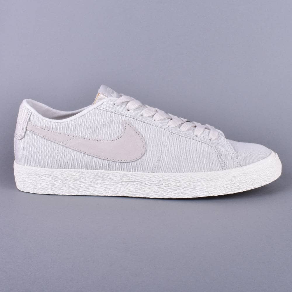 clearance prices wholesale outlet sold worldwide Zoom Blazer Low Canvas Deconstructed Skate Shoes - Phantom/Light  Bone-Habanero Red
