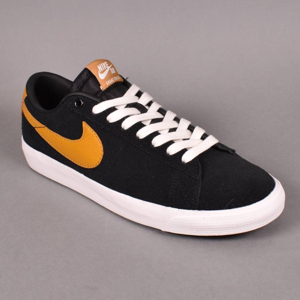 the latest 7ec09 113ab Nike SB Zoom Blazer Low GT Skate Shoes - Black/Wheat-Summit White