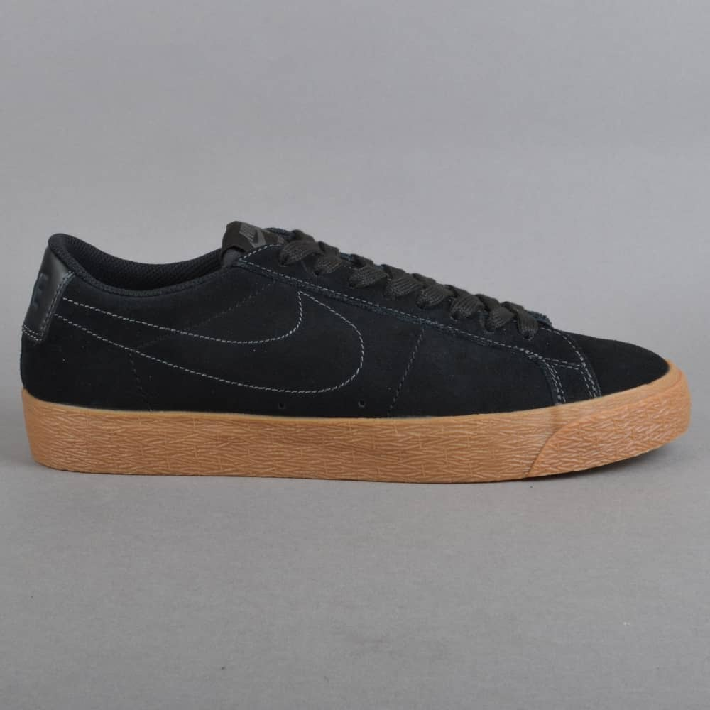 Nike SB Zoom Blazer Low Skate Shoes - Black Black-Anthracite - SKATE ... 789d34c57