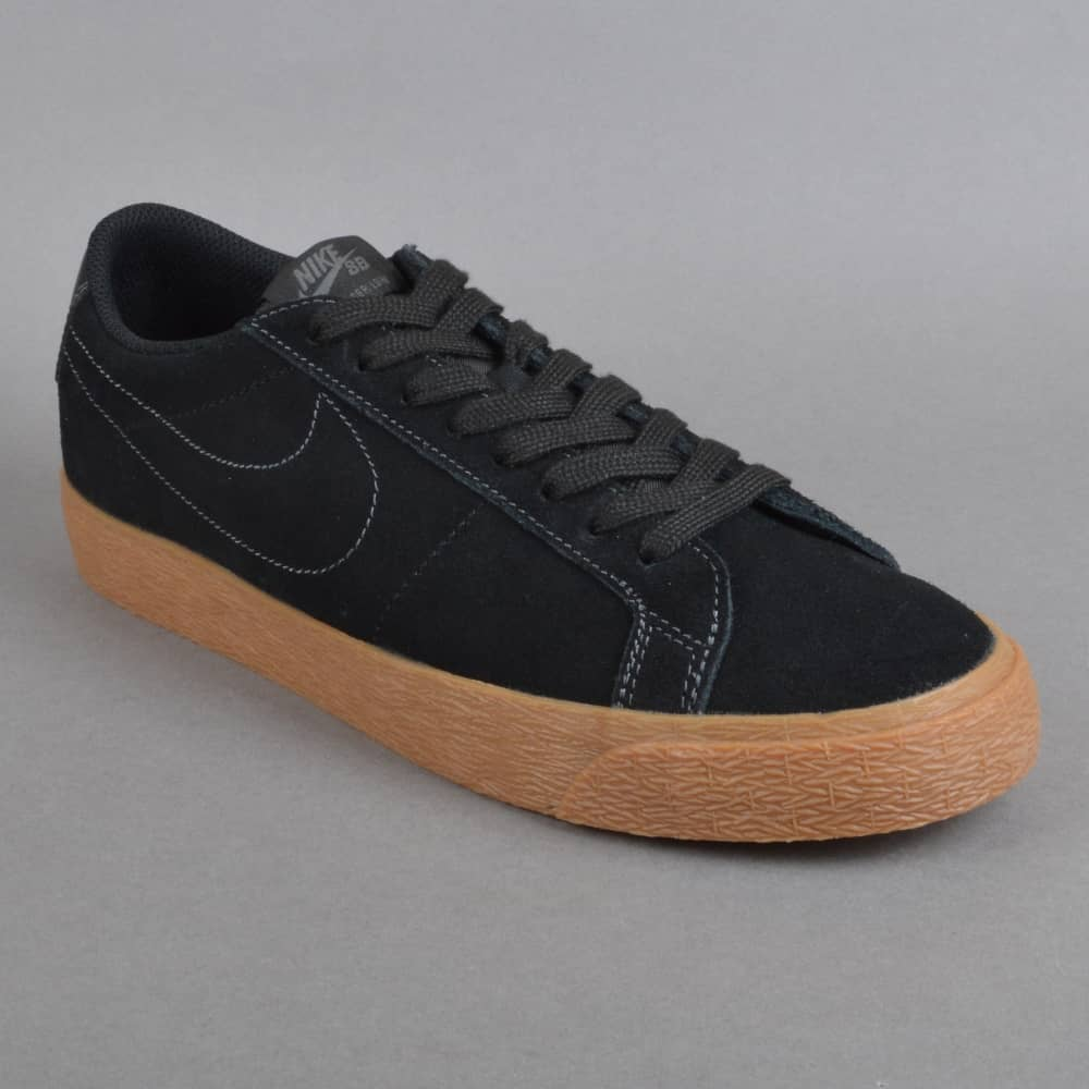 d5cc4c86188f4 Nike SB Zoom Blazer Low Skate Shoes - Black/Black-Anthracite - SKATE ...