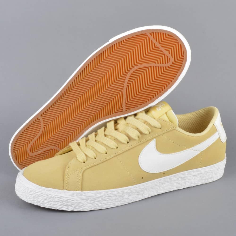 8d3b2fd0a8869 Nike SB Zoom Blazer Low Skate Shoes - Lemon Wash Summit White-Summit ...