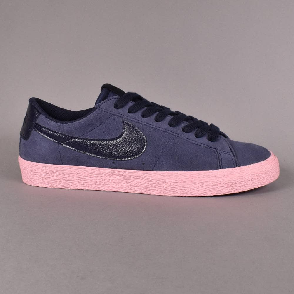 best service 9f1b4 47322 Zoom Blazer Low Skate Shoes - Obsidian/Obsidian-Bubblegum