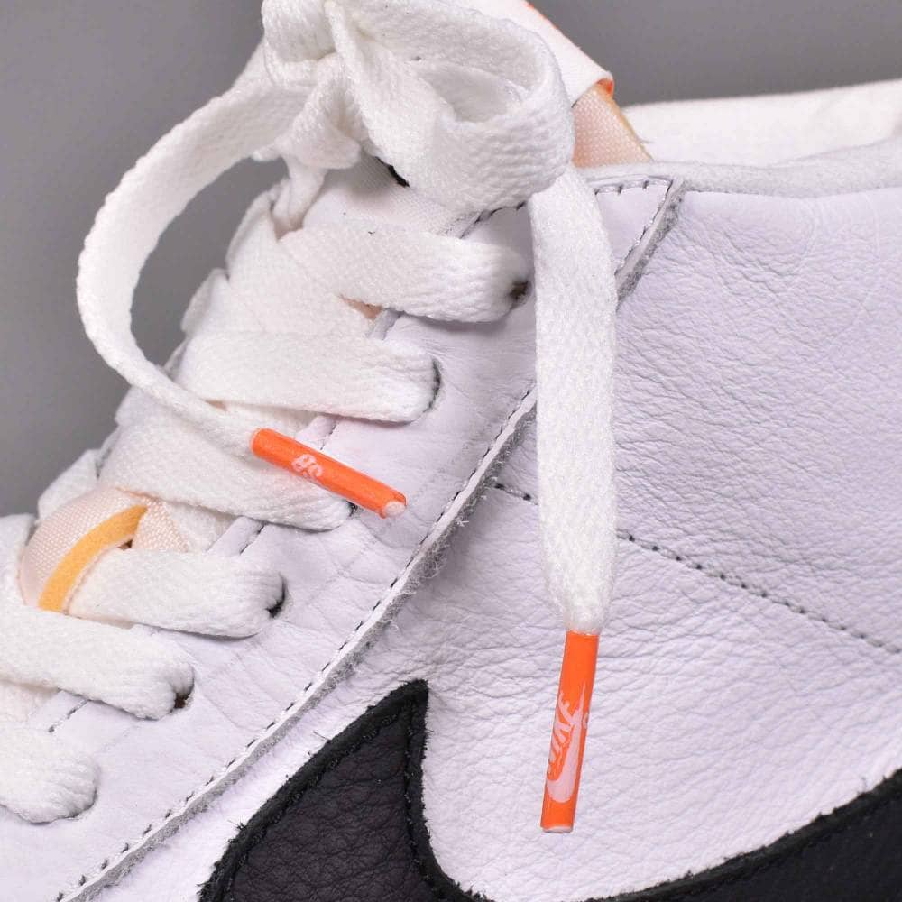 premium selection 1a469 98c4d Zoom Blazer Mid ISO Skate Shoes - White Black-Safety Orange