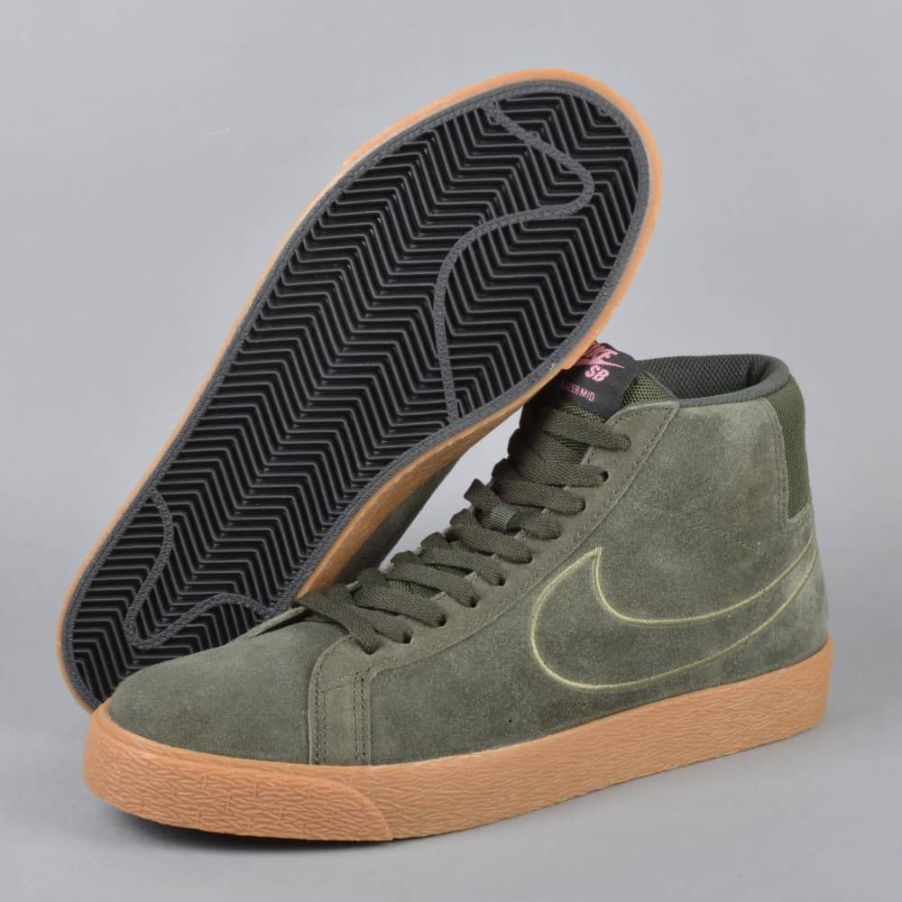 d53ef1f932a6 Nike SB Zoom Blazer Mid Skate Shoes - Sequoia Sequoia-Medium Olive ...