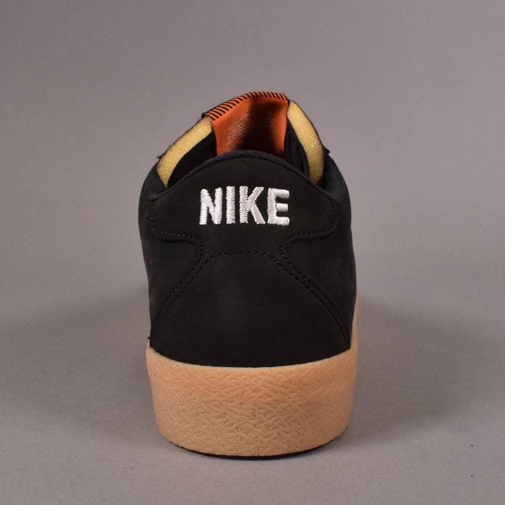 pretty nice 28f0e 8c2aa Zoom Bruin Iso (Orange Label) Skate Shoes - Black White-Safety Orange
