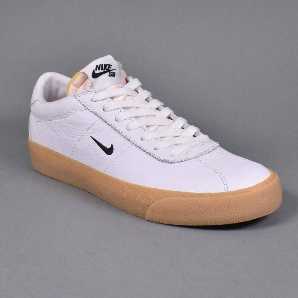 watch bf9dc 22951 Zoom Bruin ISO Skate Shoes - White Black-Safety Orange