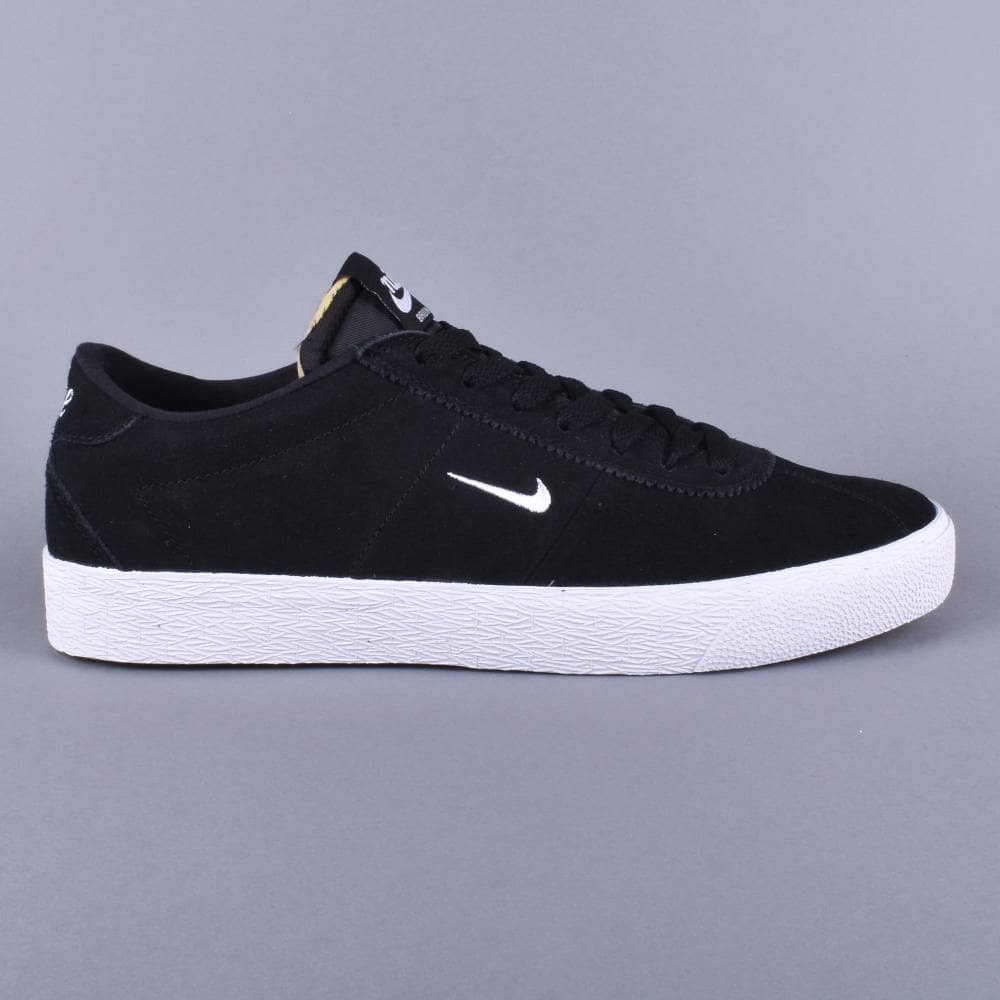 fcdb80c092c44 Nike SB Zoom Bruin Skate Shoes - Black White-Gum Light Brown - SKATE ...