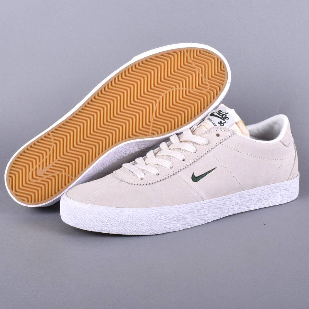 Zoom Bruin Skate Shoes SailFir White Gum Light Brown