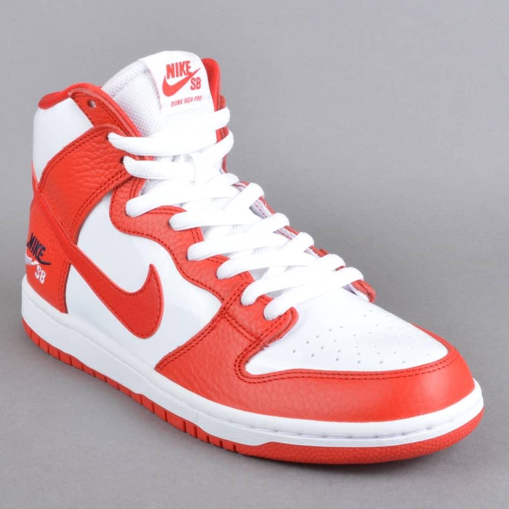3d0ff25a876b Nike SB Zoom Dunk High Pro Skate Shoes - University Red University ...