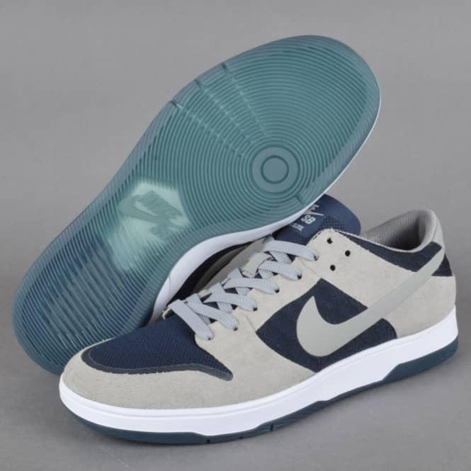 251385a96b59 Zoom Dunk Low Elite Skate Shoes - Medium Grey Dark Obsidian-White Medium