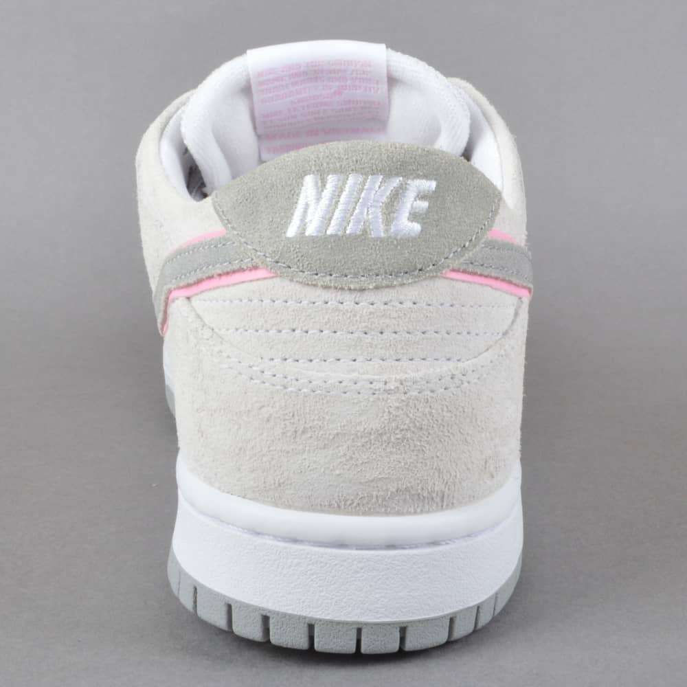e42dbac3d3e Nike SB Zoom Dunk Low Pro IW Skate Shoes - White Perfect Pink-FLT ...