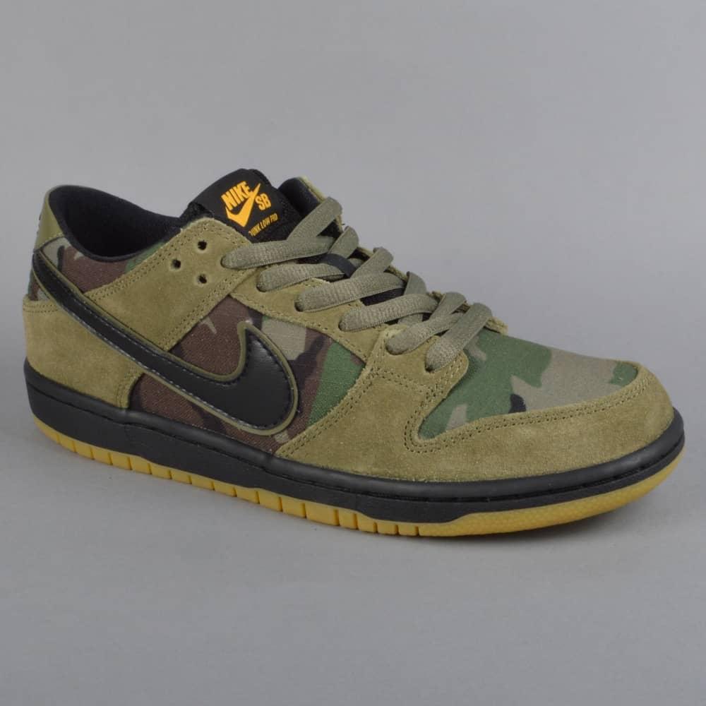 a2dbb4cb5c081 Zoom Dunk Low Pro Skate Shoes - Medium Olive/Gum Light Brown/University Gold