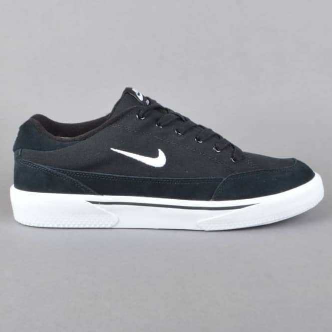 Zoom GTS Skate Shoes - Black/White