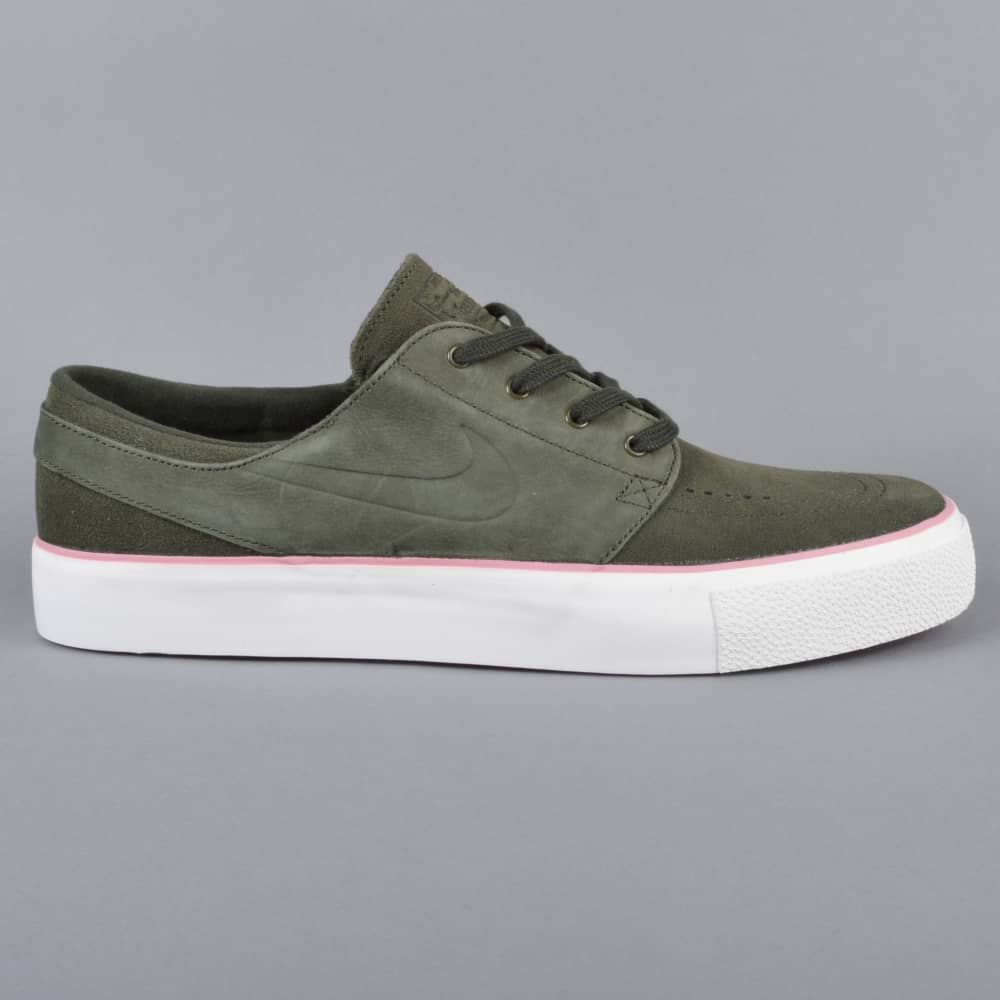 huge selection of 07505 f856a Nike SB Zoom Janoski HT Skate Shoes - Sequoia/Sequoia-Elemental Pink ...
