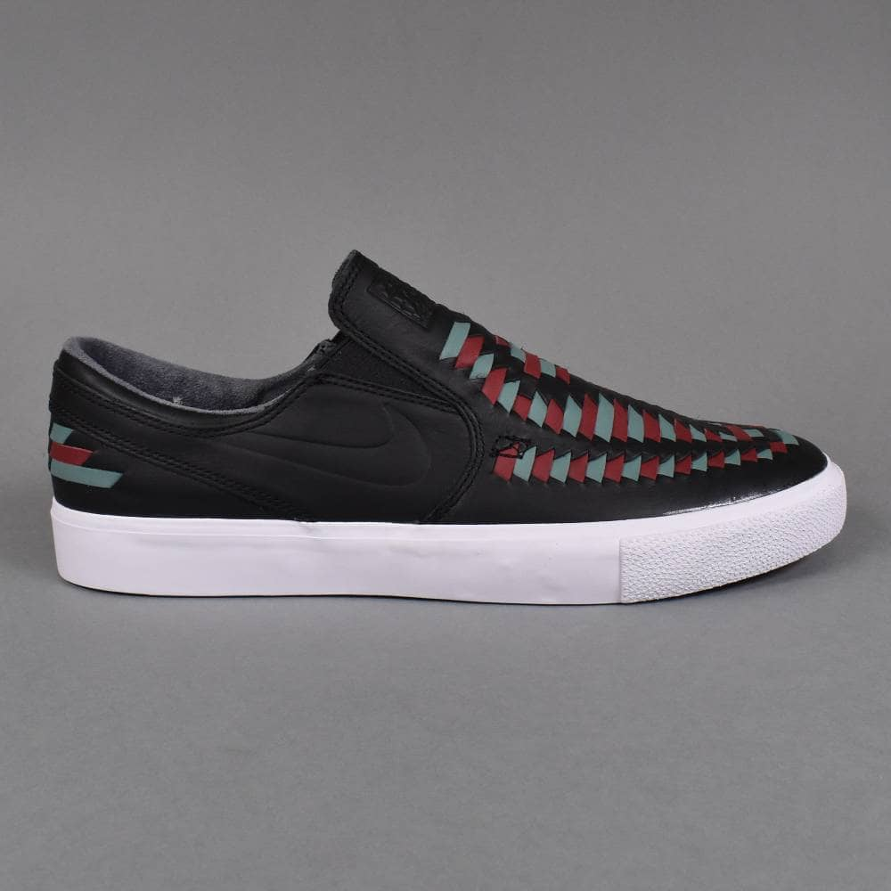 9e5abbd39b1e Zoom Janoski Slip RM Crafted Skate Shoes - Black/Black-Bicoastal-Team Red