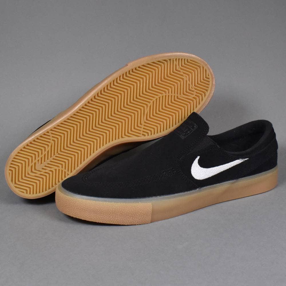 Nike SB Zoom Stefan Janoski Slip RM Shoes BlackWhite Black Gum Light Brown
