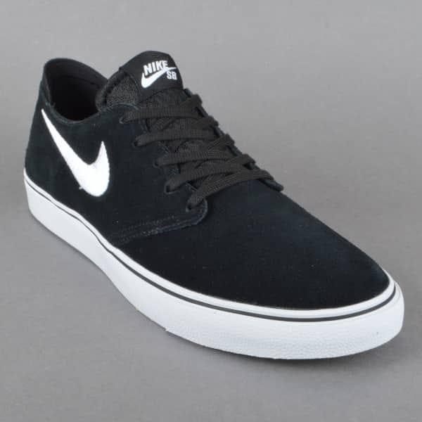 Nike Sb Zoom Oneshot Skate Shoes Black White Gum Light Brown