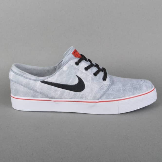 aac3addc15bc Zoom Stefan Janoski Canvas PR QS Skate Shoes - Wolf Grey Black-White-