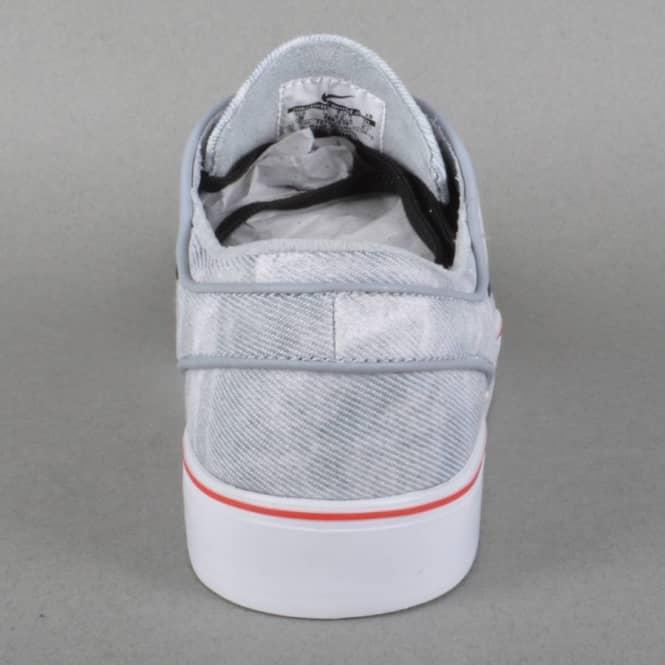 the best attitude c3eec 48de8 Zoom Stefan Janoski Canvas PR QS Skate Shoes - Wolf Grey Black-White-