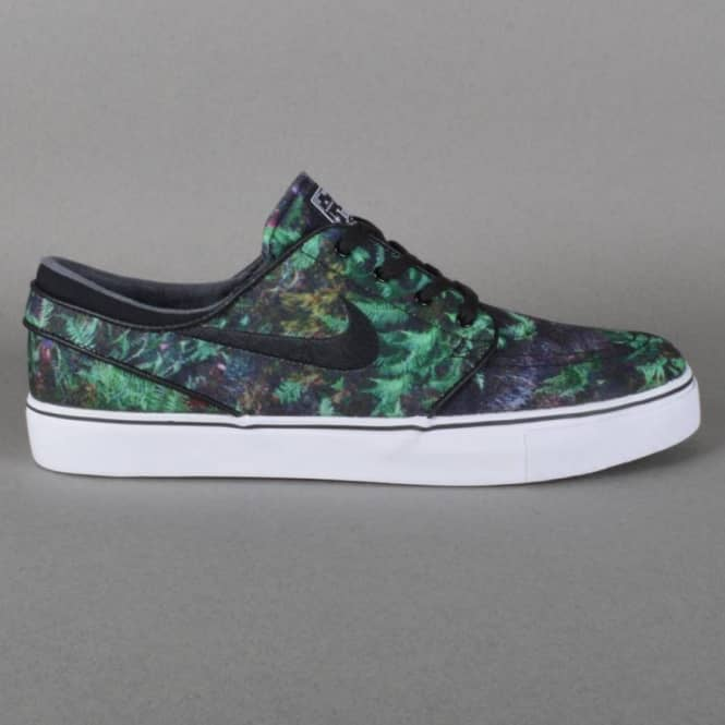 Nike SB Zoom Stefan Janoski Canvas Premium Skate Shoes - Gorge Green/Black- White - SKATE SHOES from Native Skate Store UK