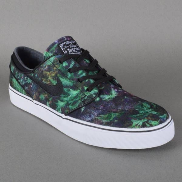 Zoom Stefan Janoski Canvas Premium Skate Shoes - Gorge Green/Black-White