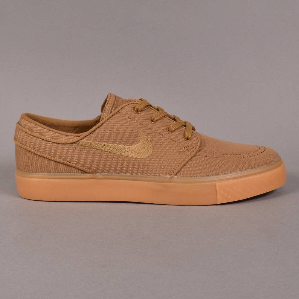 bf09583baab7 Nike SB Zoom Stefan Janoski CNVS Skate Shoes - Golden Beige Golden ...